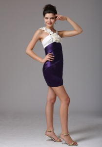 Colorful V-neck Cocktail Homecoming Dresses Hand Flower