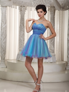 Colorful Cocktail Homecoming Dress Sweetheart Mini Ruch