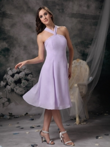 Lilac Dama Dress for Quinceanera Empire Straps Mini-length