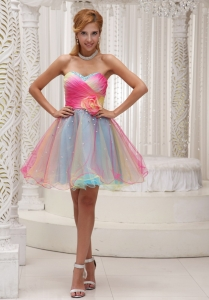 Ombre Color Prom Homecoming Dress Sweetheart Mini Short
