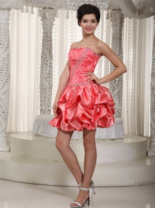 Princess Prom Cocktail Dress Watermelon Mini-length