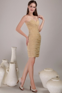 Mini-length Cocktail Homecoming Dress Champagne Sweetheart