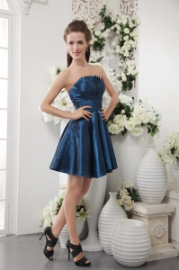 Short Mini Dama Dress for Quinceanera Blue A-line