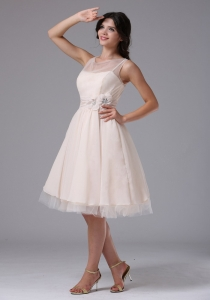 Bateau Dama Dresses for Quinceanera Knee-length