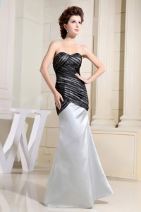 Black and Grey Prom Dress Pleated Sweetheart