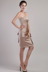 Sheath Strapless Knee-length Chocolate Cocktail Dresses