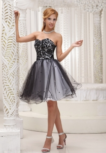 Lace Black and White Cocktail Prom Dress For 2014