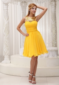 Ruched Bodice Sequin Homecoming Cocktail Dress