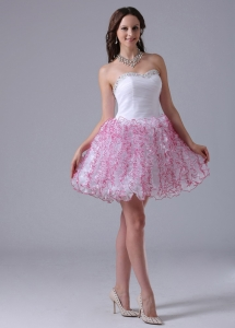 A-line Ruffled Sweetheart Prom Homecoming Cocktail Dress