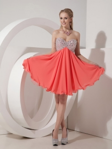 Sweetheart Beading Mini-length Homecoming Dress For Sale