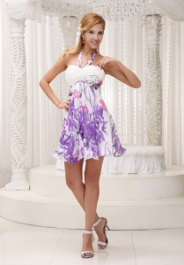 Halter Printed 2013 Prom Party Homecoming Short Dress