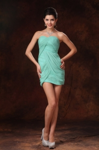 Sexy Mini-length Turquoise Prom Homecoming Gown