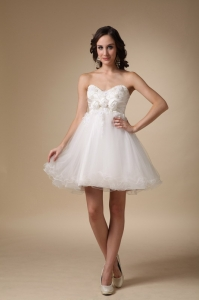 Sweetheart Mini-length Prom Holiday Dresses White