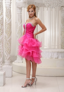 Beaded Asymmetric Hem Layered Prom Holiday Dress