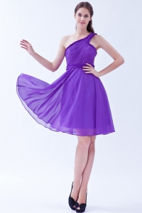 Low Price One Shoulder Lavender Cocktail Dress