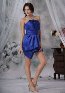 Royal Sheath Mini-length Prom Homecoming Dress