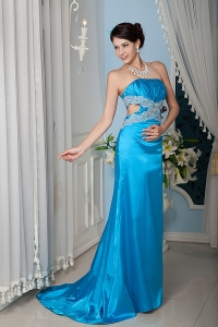 2013 New Baby Blue Beading Evening Pageant Dress