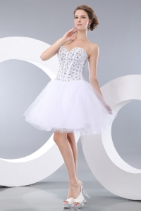 Sweetheart White Mini-length Homecoming Dress Cocktail