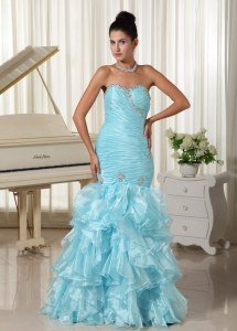 Mermaid Evening Dress Sweetheart Baby Blue