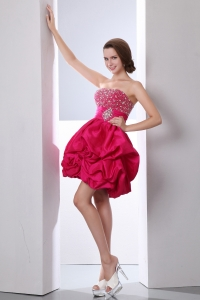 Strapless Prom Homecoming Dress Taffeta Beading