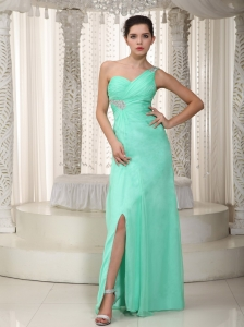 Green Empire Pageant Celebrity Dress Chiffon