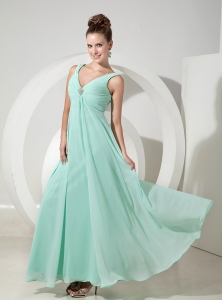 Apple Green Maxi Celebrity Dresses Empire Chiffon