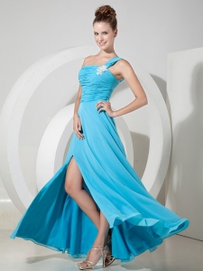 Empire Chiffon Appliques Pageant Celebrity Dress