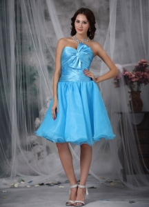 Baby Blue Graduation Homecoming Dress A-line