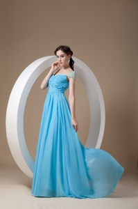 Baby Blue Pageant Celebrity Dress Empire Square