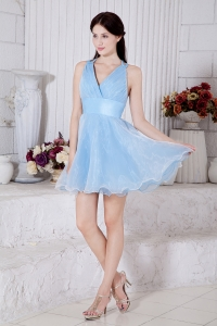 Baby Blue Princess Prom Homecoming Dress Organza