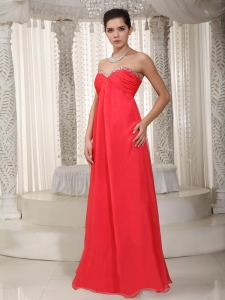 Empire Maxi Celebrity Dresses Sweetheart Chiffon