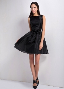 Little Black Holiday Dresses A-line Bateau Taffeta