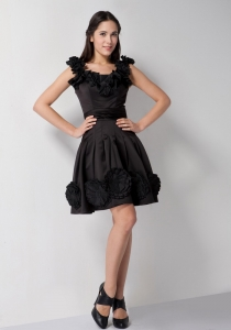 Black Scoop Taffeta Prom Little Black Dresses