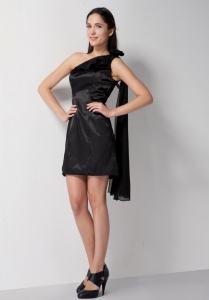 Black Column Little Black Graduation Dresses Taffeta