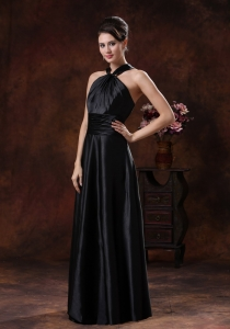 Black Column Halter Maxi/Evening Dresses In 2013