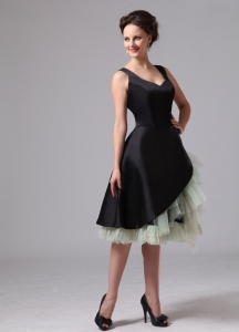 Black Green Little Black Cocktail Dresses Straps