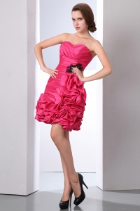 Red Sweetheart Prom Homecoming Dress Taffeta Beading