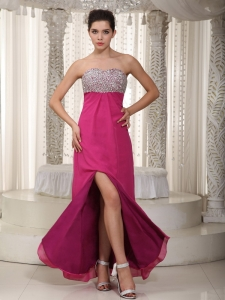 Hot Pink Empire Pageant Celebrity Dress Sweetheart