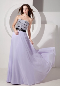 Empire Prom Pageant Dress Strapless Chiffon Beading