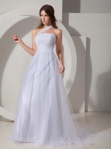 Modest A-Line Prom Maxi Dresses Princess Court Train