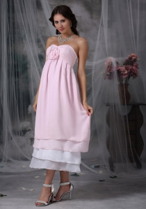 Pink Empire Prom Maxi Dresses Sweetheart Chiffon