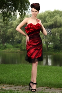 Red Column Tulle Holiday Homecoming Dresses