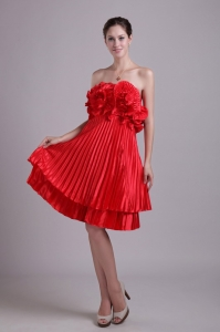 Strapless Knee-length Holiday Graduation Dresses Taffeta