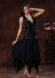 Sexy Black Prom Little Black Dresses Clearance Halter