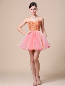 Sweetheart Graduation Cocktail Dress Beaded Bodice