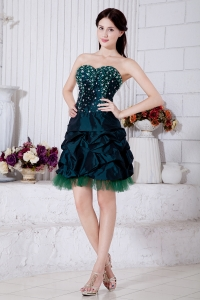 Turquoise Sweetheart Beading Prom Homecoming Dress
