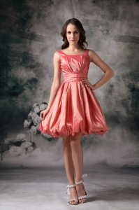 Watermelon Graduation Homecoming Dress Red A-line