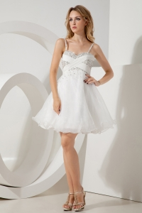 White A-line Holiday Homecoming Dresses Princess