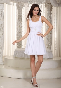 Empire Straps Chiffon Beading Graduation Holiday Dress