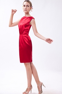 Wine Red Prom Holiday Dresses Column Bateau